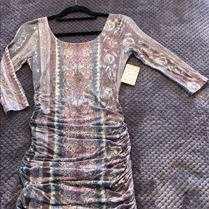 Free People Ruched Dress *NWT*
